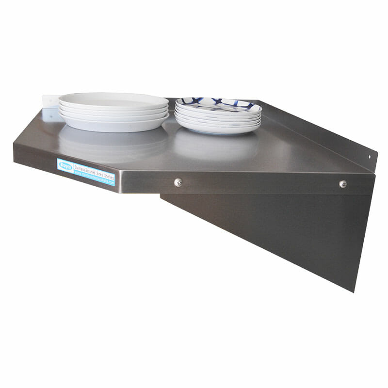 stainless steel wall mounted shelf