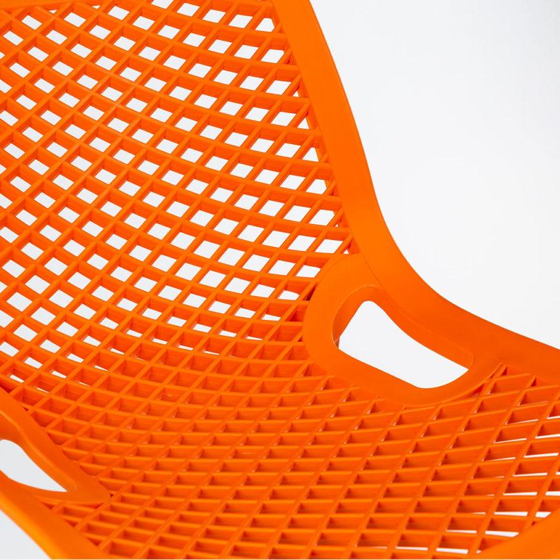 air bar stool orange