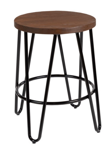 Hairpin stool black