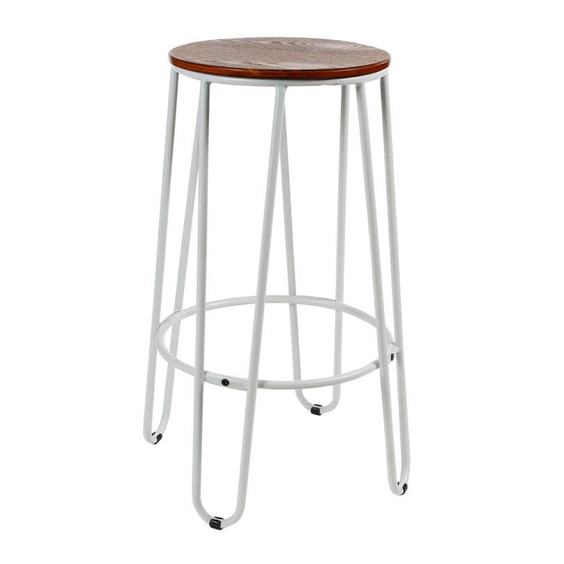 Hairpin kitchen counter stool
