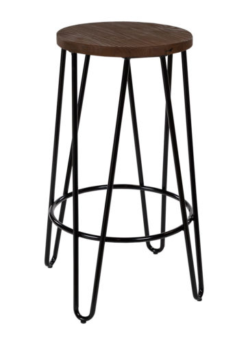 Hairpin kitchen counter stool