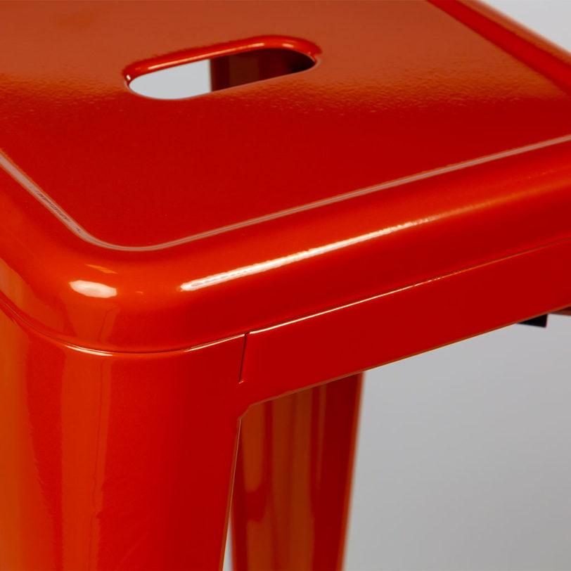 tolix 45cm stool orange