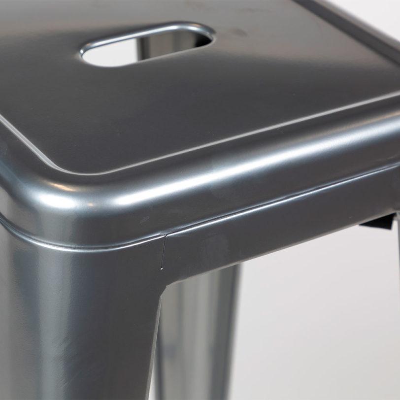 tolix 45cm stool silver