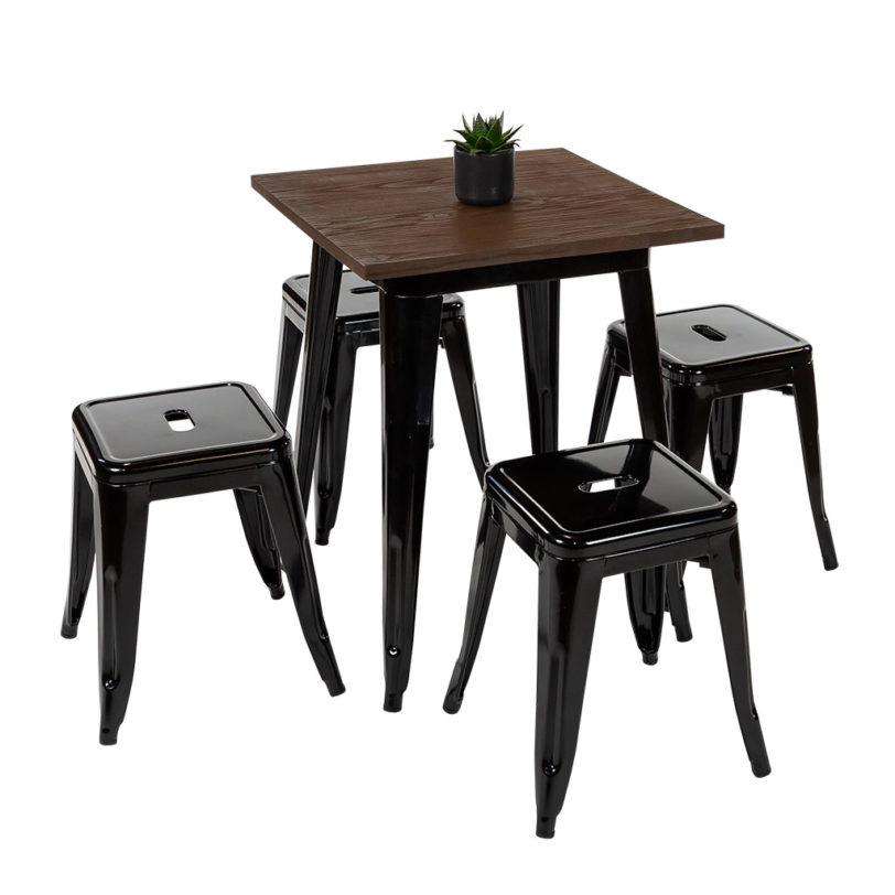 60cm square tolix table