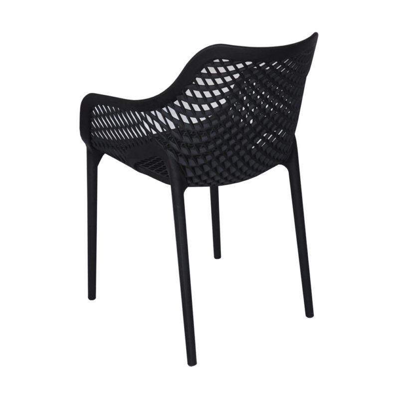 air arm chair black backview - chairforce