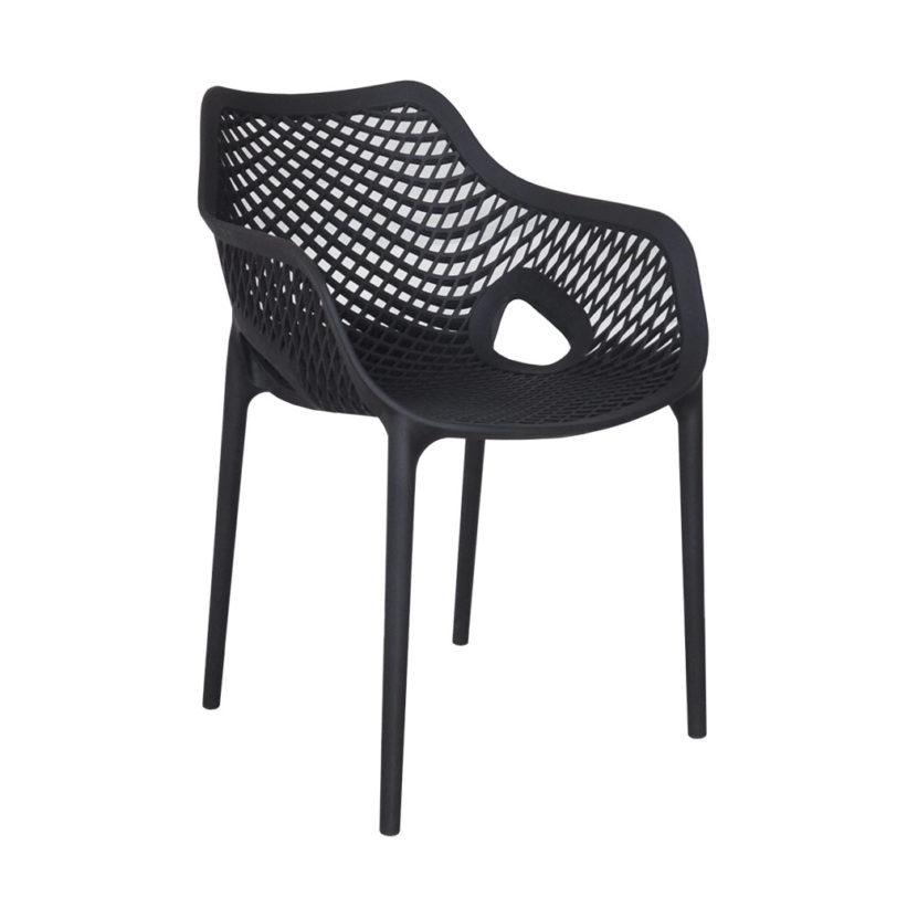 air arm chair black chairforce