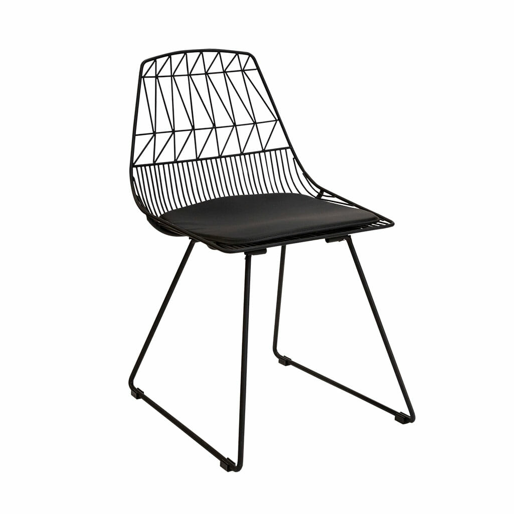 Bend wire chair black
