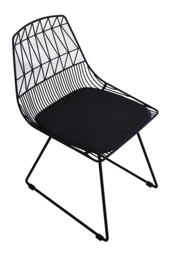 Bend wire dining chair top view