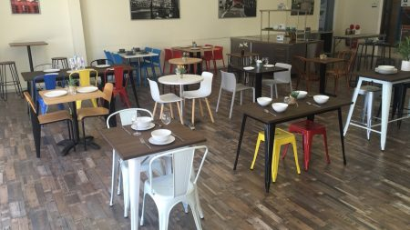 Outdoor cafe chairs from Chairforce
