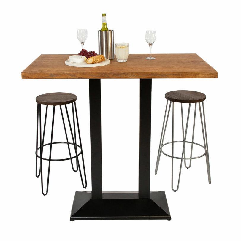 120 x 70cm Oak effect Cement Table