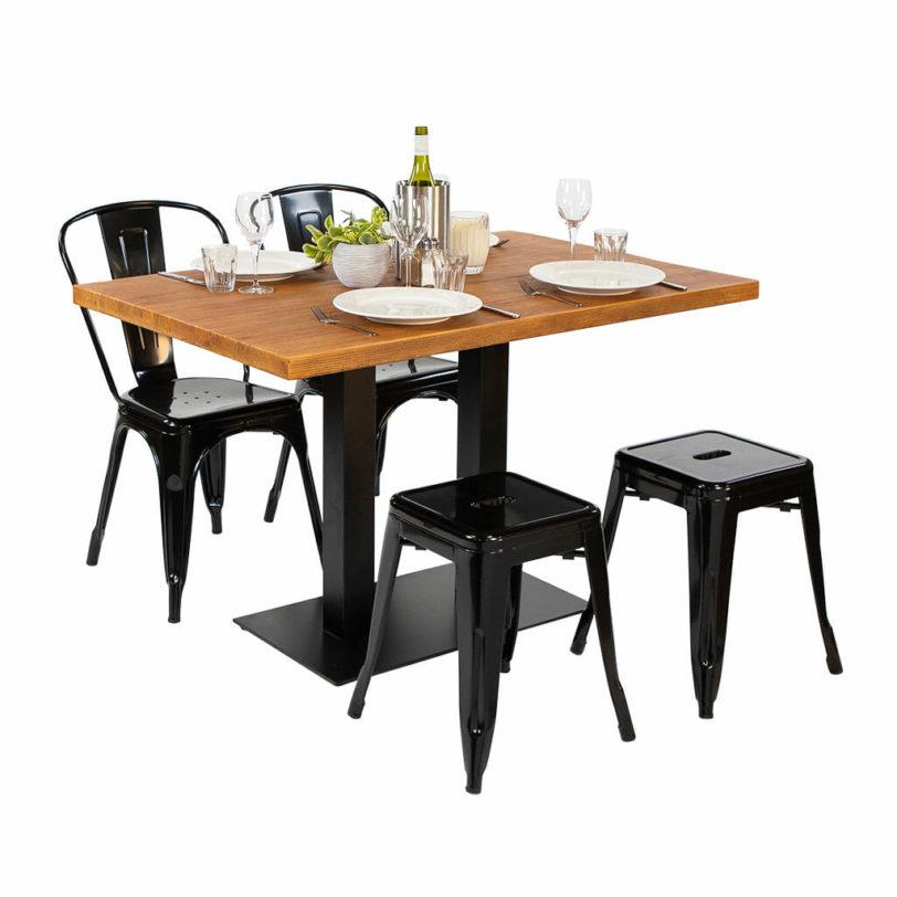 120 x 80cm Oak Effect Cement Table