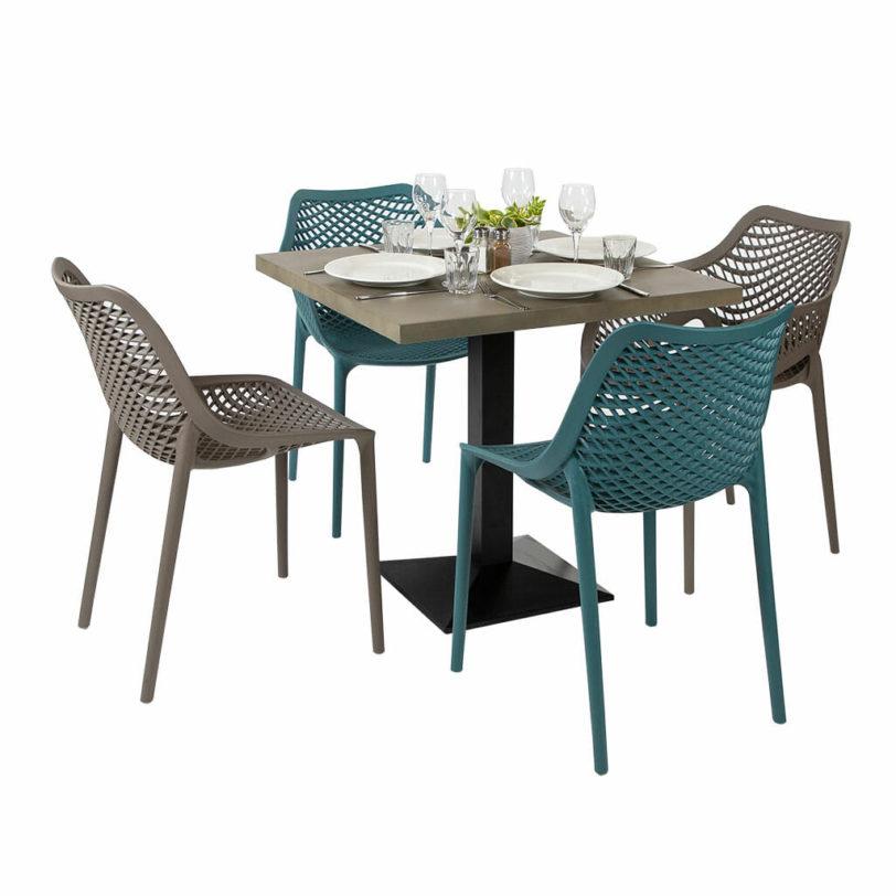 80cm square cement table